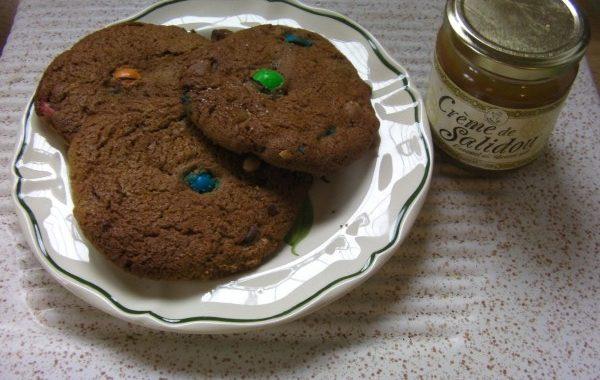 Cookies caramel et m&ms