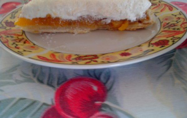 Tarte abricots secs et noix de coco