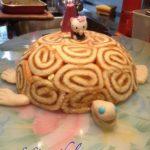 Gâteau tortue à la pêche
