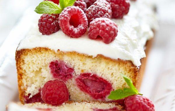 Cake au thé et à la framboise