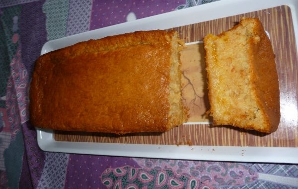 Gâteau mangue et lait ribot