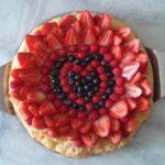 Tarte aux fraises et aux myrtilles