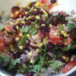 Salade aux haricots rouges, maïs et thon