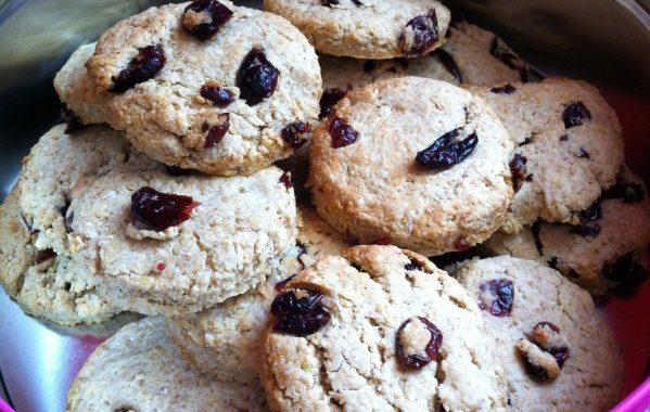 Petits gâteaux cranberries 'diététiques'