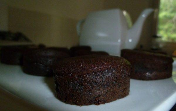 Mini fondants chocolat framboise
