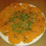Salade exotique de clémentines