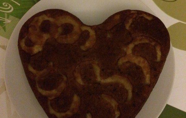 Gâteau au yaourt, pomme et chocolat