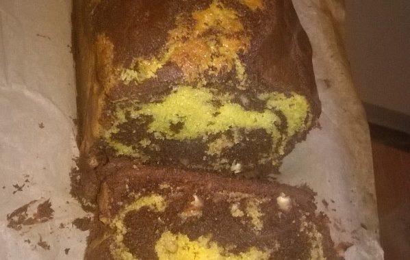 Gâteau marbré aux noix