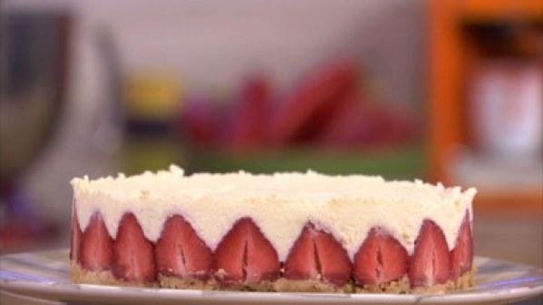 Cheesecake aux fraises et au fromage blanc