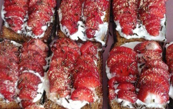 Pain d'épices à la fraise