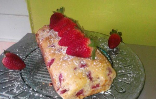 Plum cake fraise citron et ricotta