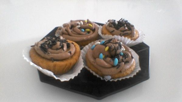 Cupcakes avec crème au chocolat