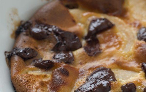Mini clafoutis poires-chocolat ultra simples !