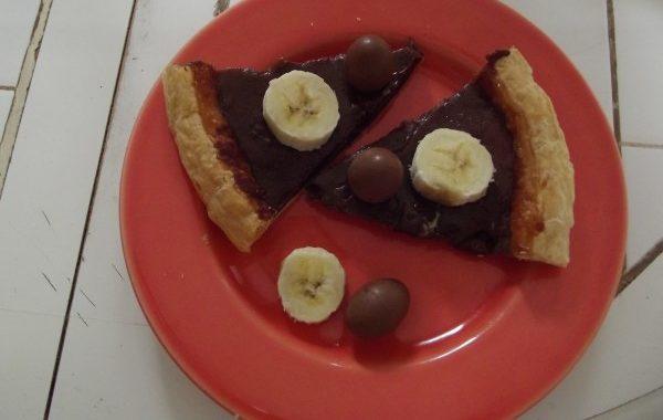 Tarte compote de bananes et chocolat