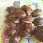 Madeleines marbrées aux pépites de chocolat