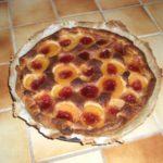 Tarte à l'abricot et gelée de groseilles