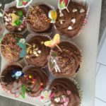 Cupcake et nuage tout chocolat