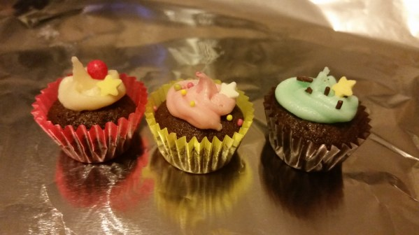 Cupcakes au chocolat praliné