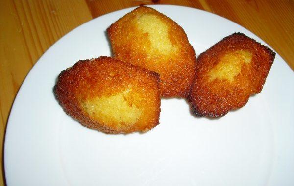 Madeleines miel-citron-gingembre