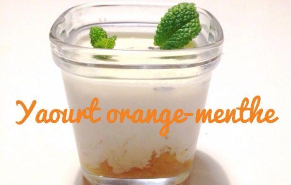 Yaourt orange-menthe