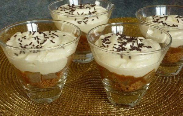 Trifles poires spéculoos caramel au beurre salé et mascarpone