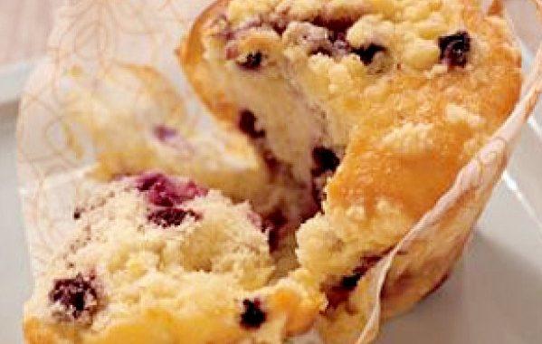 Muffins aux Myrtilles glacés à la Cannelle