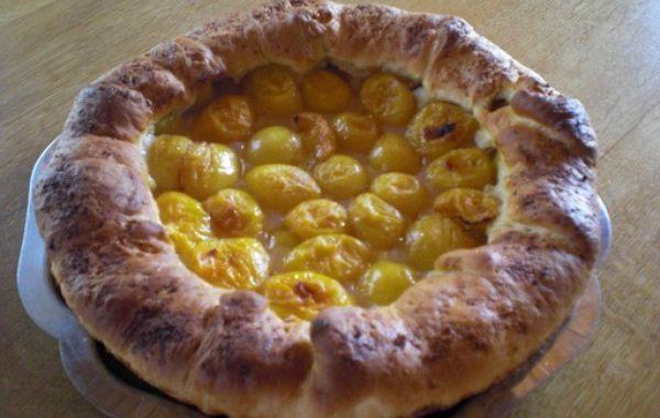 Tarte aux prunes de mes aïeux (pâte brioché)