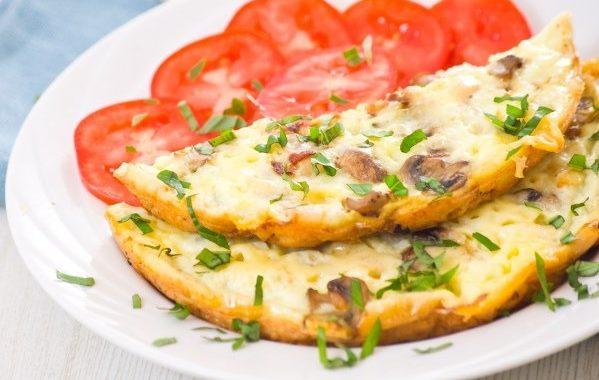 Omelette aux champignons de paris facile