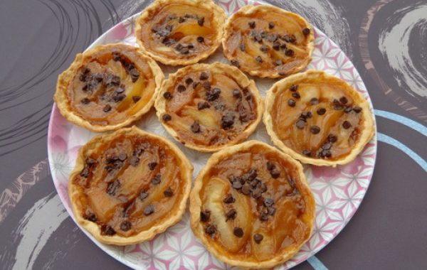 Tartelettes aux poires caramélisées