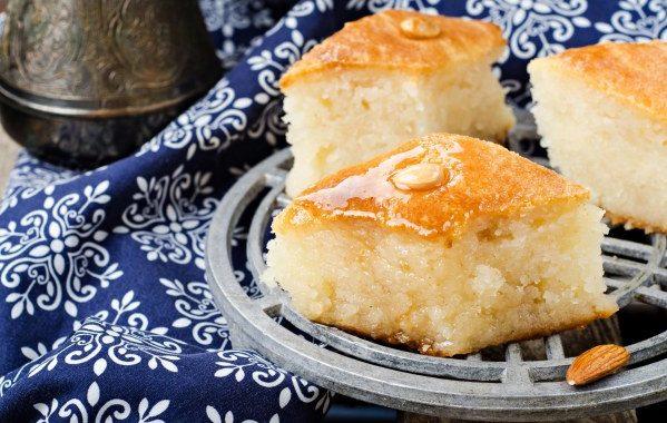 Mamounié (gâteau de semoule libanais)