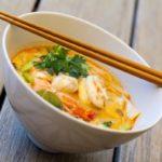 Soupe thaï crevettes ou poulet