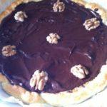 Tarte fondante au chocolat et noix