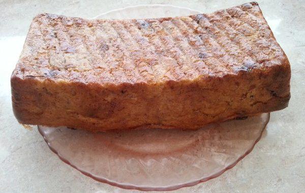 Pudding de pain complet au chocolat