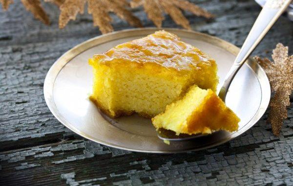 Gâteau de semoule aux pommes (végétalien)