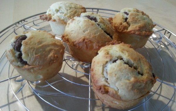 Muffins moelleux banane et Nutella