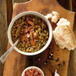 Salade de lentilles froide aux lardons
