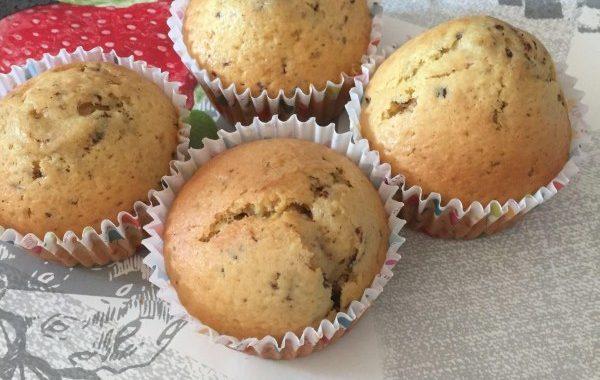 Muffins aux noix de pécan et chocolat