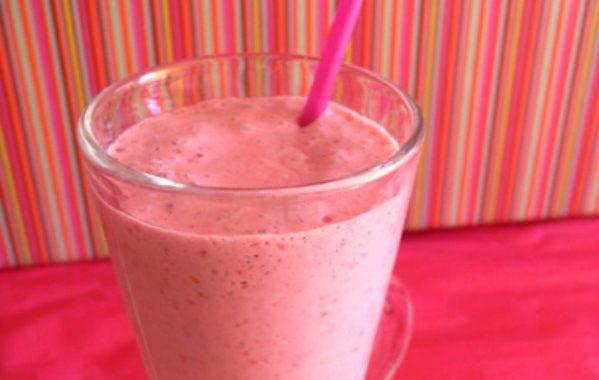 Milkshake framboise facile
