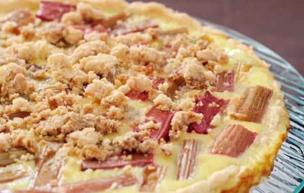 Tarte à la rhubarbe sans moule à tarte