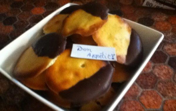 Biscuits au chocolat et au citron de Floriane