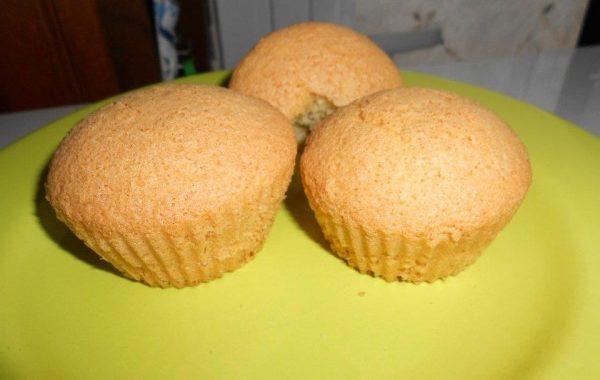 Muffins noix de coco sans beurre