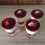 Verrine aux fraises, pêches et framboises