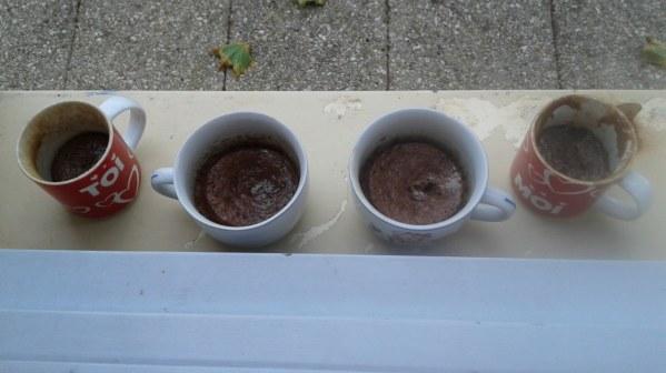 Mug cakes chocolat au lait