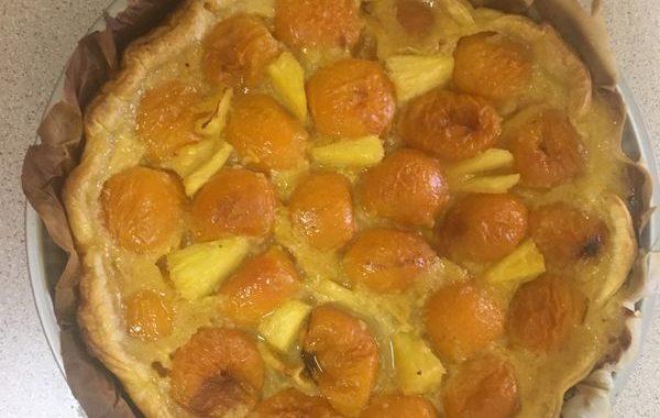 Tarte à l'abricot et ananas