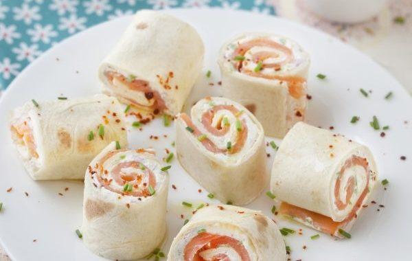 Tortilla froides au saumon (wraps)