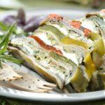 Terrine de légumes grillés et mozzarella